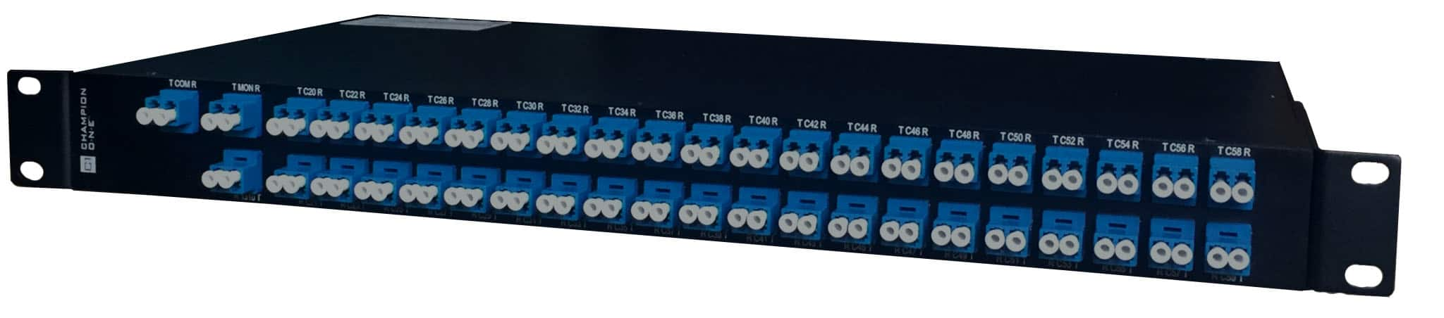 40 Channel DWDM Mux/Demux, ch. 21 start (no skips) in 1RU Enclosure