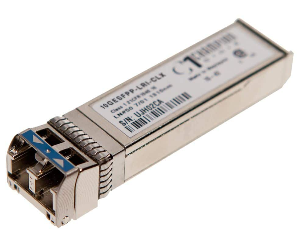 SFP+ 10GBASE-LR 10km I-temp, Calix compatible 100-01512