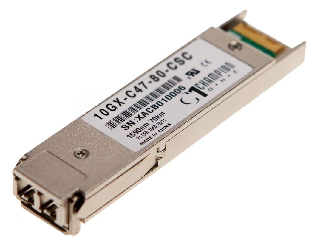 XFP 10GBASE-ZR CWDM 1xx0nm 80km Transceiver, multi-rate, Cisco Systems compatible CWDM-XFP-xxxx