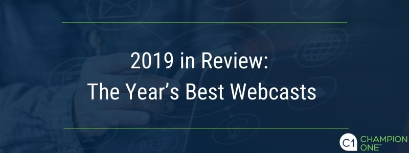 2019 in Review: The Year's Best Webcasts