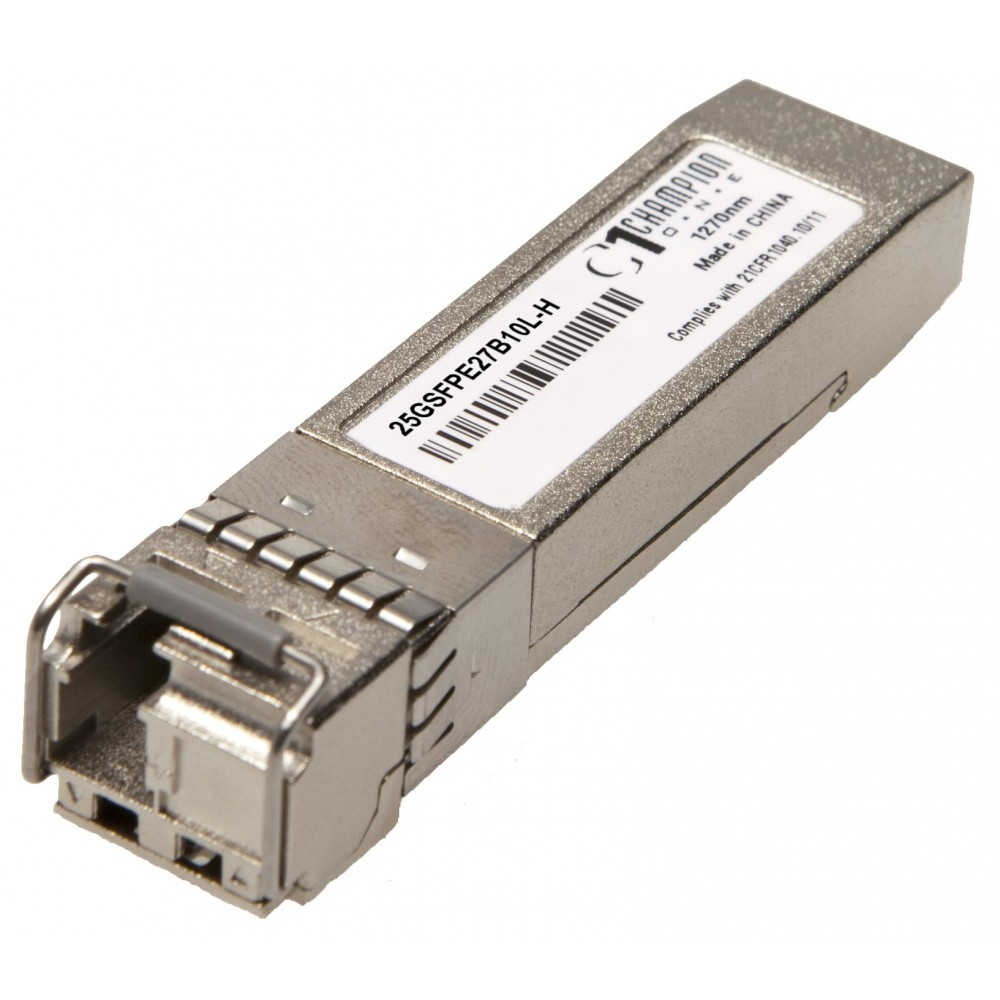 Single-Fiber 25GBASE-LR SFP28 SMF 10km temp-hardened 1270Tx/1330Rx from Champion ONE