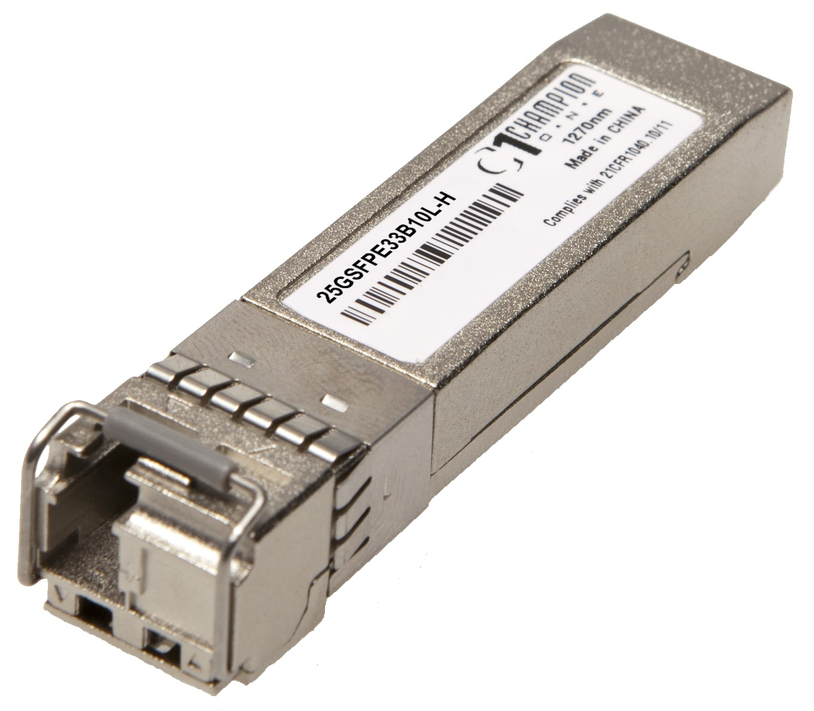 Single-Fiber 25GBASE-LR SFP28 SMF 10km temp-hardened 1330Tx/1270Rx