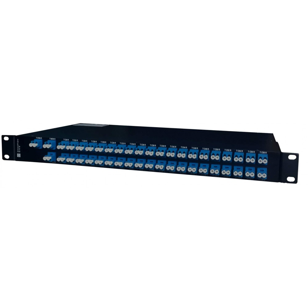 80 Channel/40 Service Single Fiber DWDM Mux/Demux ITU ch. 20-59.5 - WEST From Champion ONE