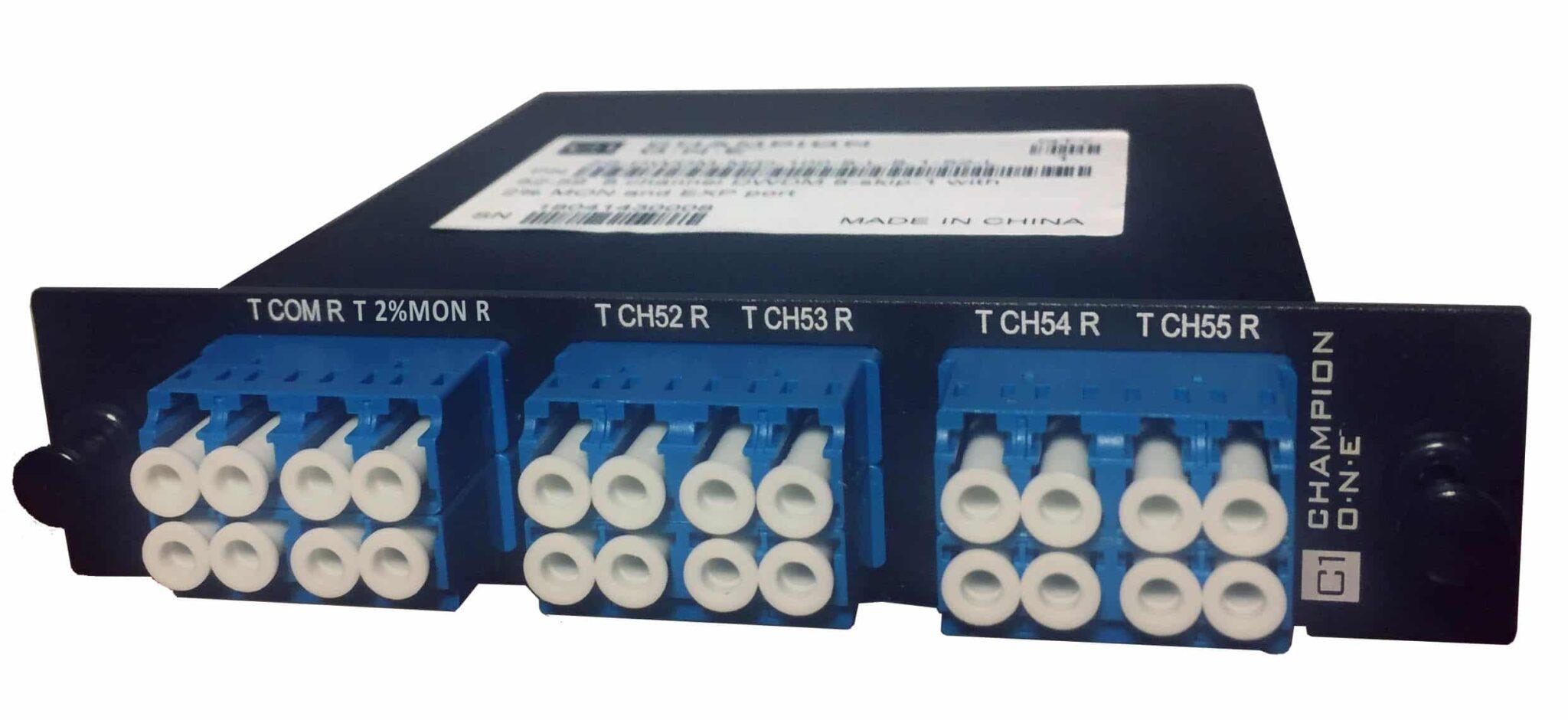 8 Channel DWDM Mux/Demux, ch. 52-59, LGX Enclosure