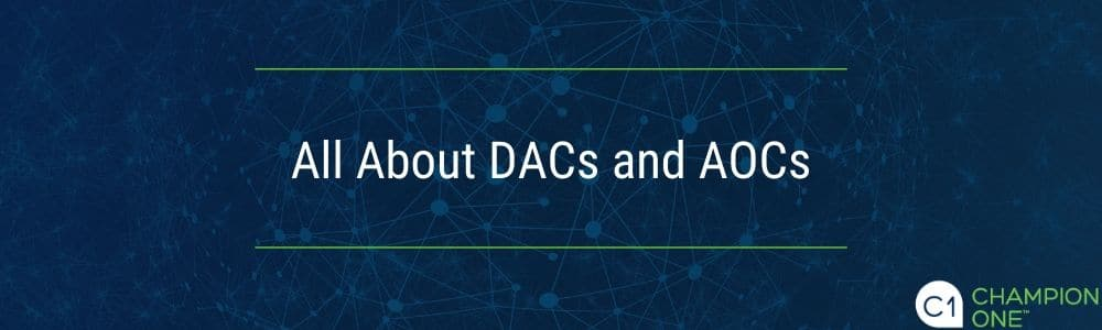 DACs and AOCs from Champion ONE