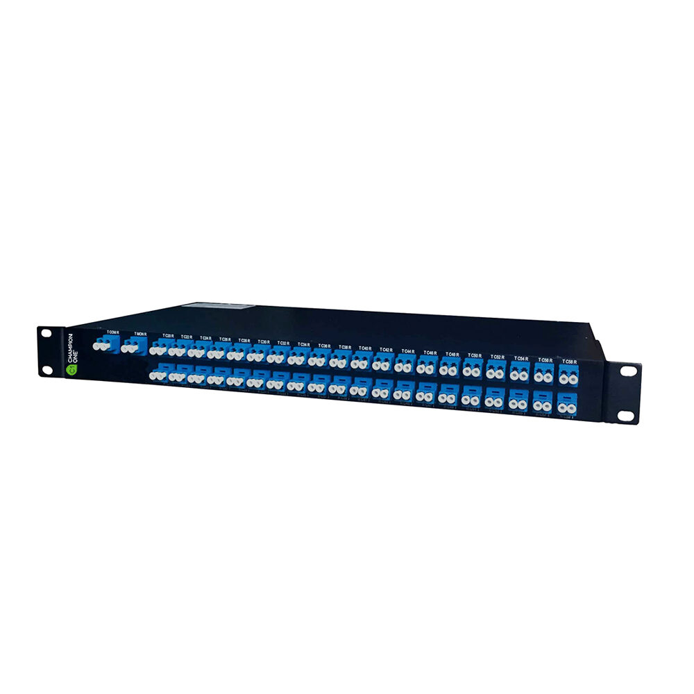 44 Channel Dual Fiber DWDM  Mux/Demux Ch. 16–59 AAWG 1RU Enclosure from Champion ONE