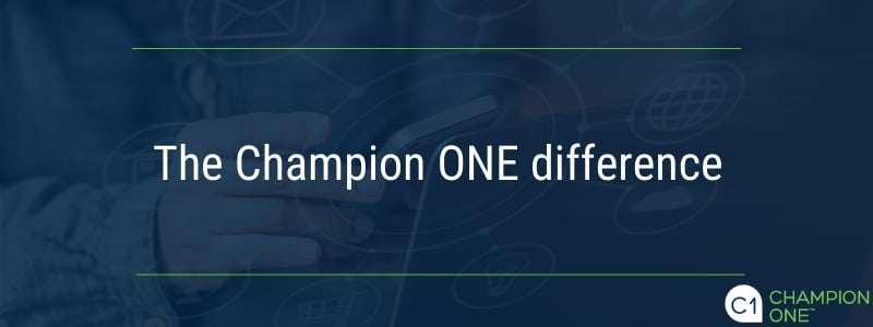 The Champion ONE difference