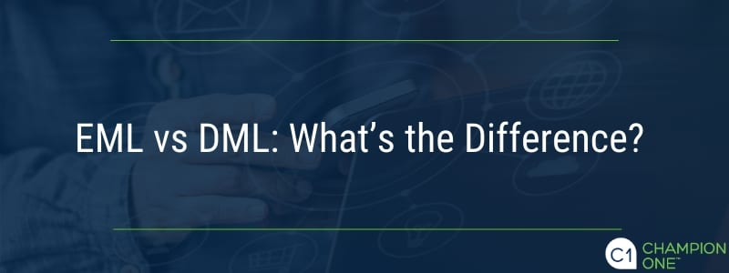 EML vs. DML: What's the difference?