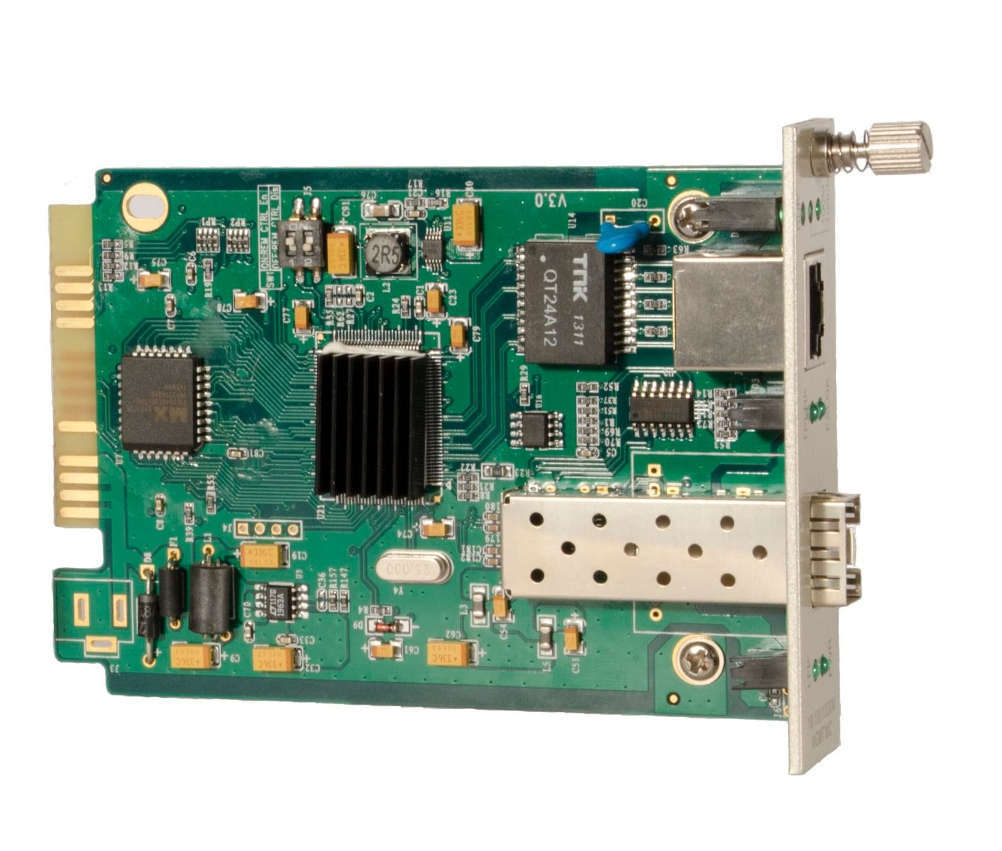 10/100/1000M Fiber Media Converter Card – SFP port – CHASSIS REQUIRED
