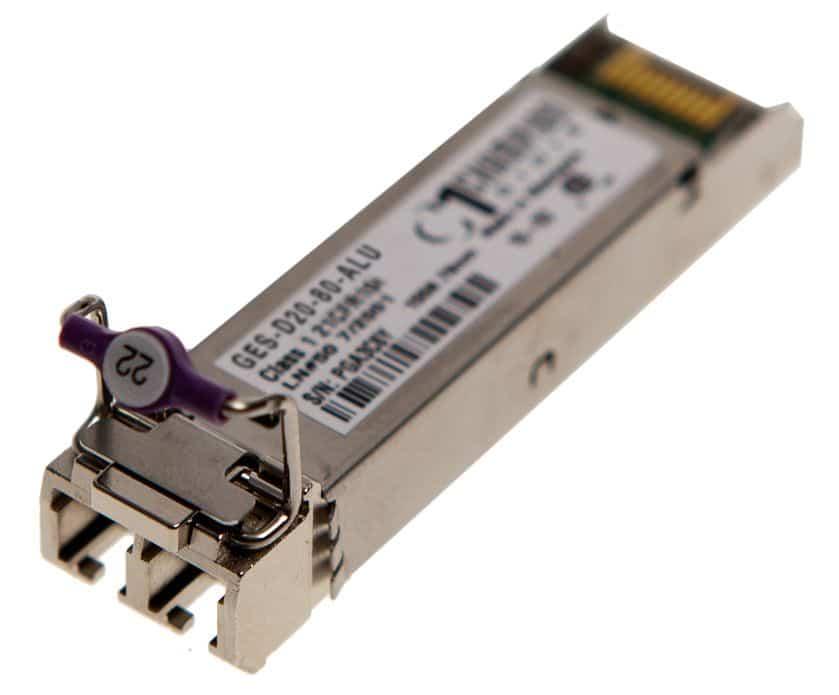 SFP 1000BASE-ZX DWDM CHxx 120km Transceiver, multi-rate, Nokia/ALU compatible SFP DWDM
