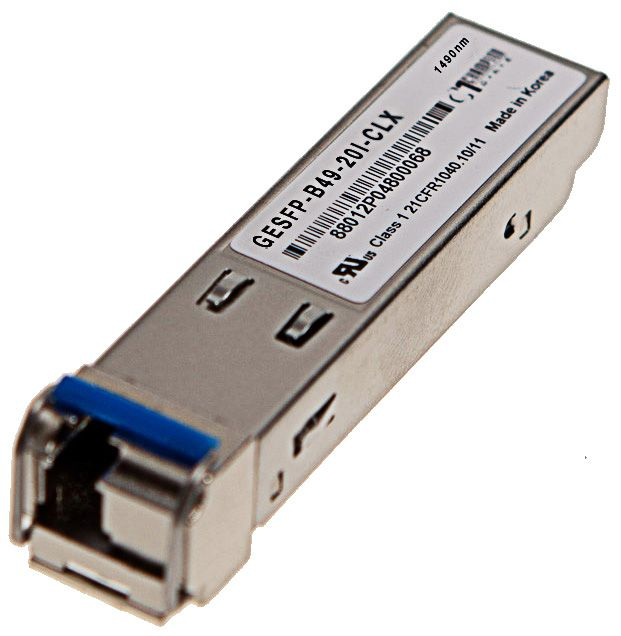 SFP SF 1000Base-BX-D 1490nm 40km I-temp, Calix compatible 100-01671