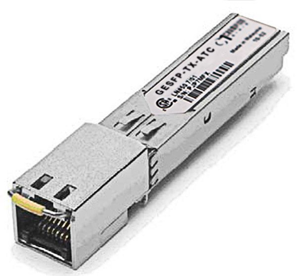 SFP NA 10/100/1000-T 0.1km Transceiver, multi-rate, Allied Telesis compatible AT-SPTX