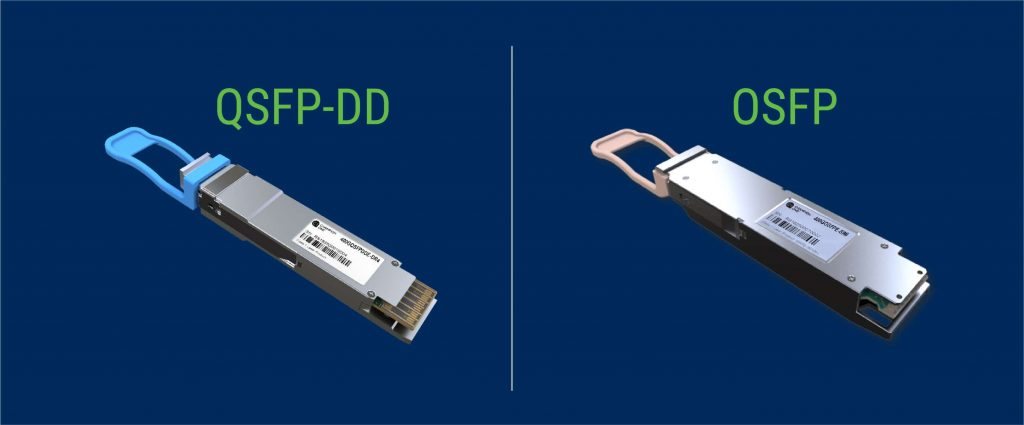 QSFP-DD and OSFP optical transceivers