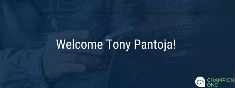 Welcome Tony Pantoja!