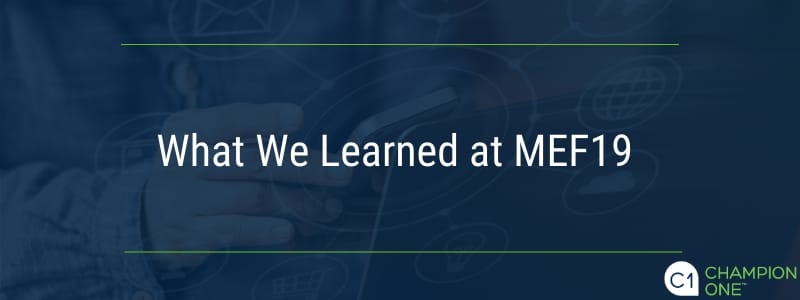 What We Learned at MEF19